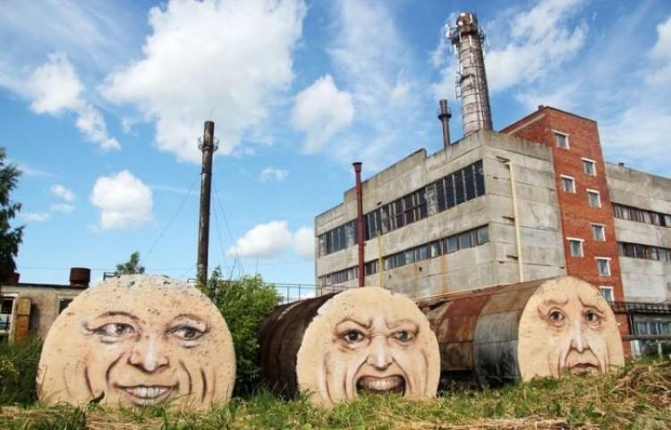 Tętniąca życiem miejska sztuka ulicy Nikity Nomerz
