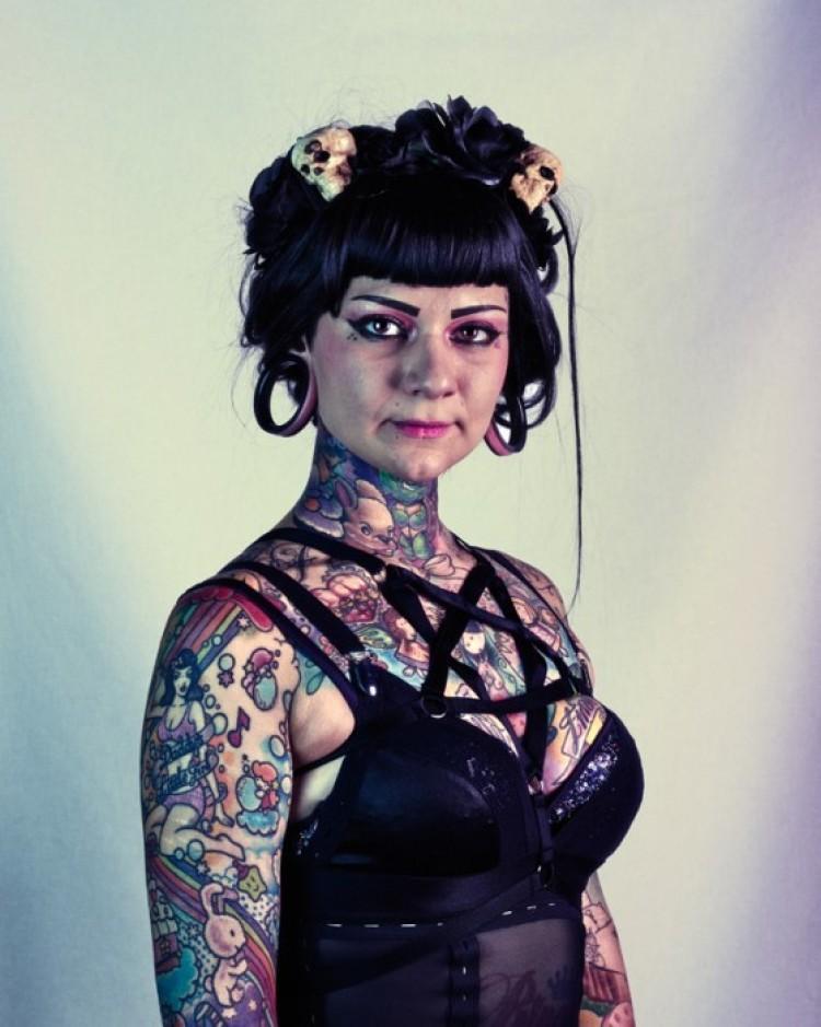 Kolorowe tatoo.