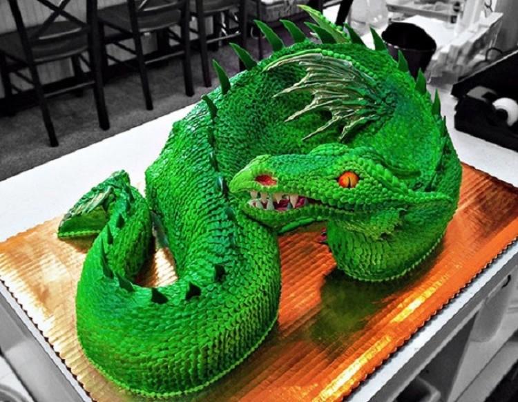 Ciasto w formie morskiego smoka.