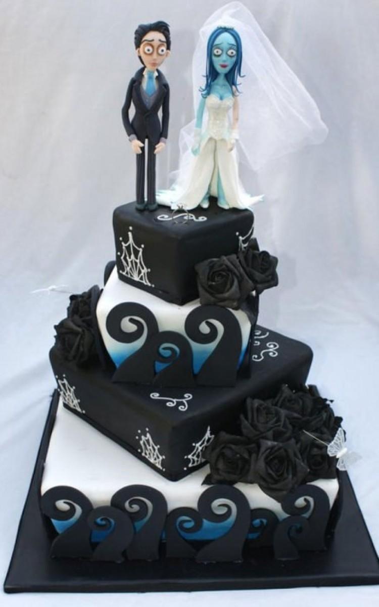 Niekonwencjonalny tort weselny.
