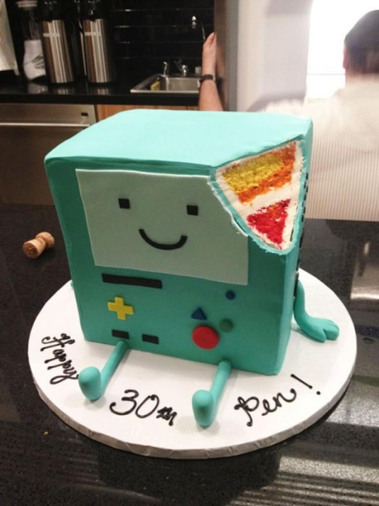 Ciasto w postaci systemu do gier wideo.