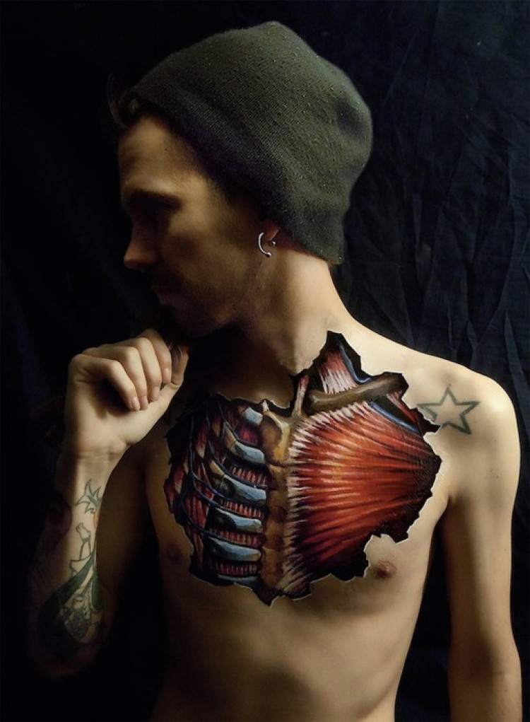 Body painting Danny Quirka.