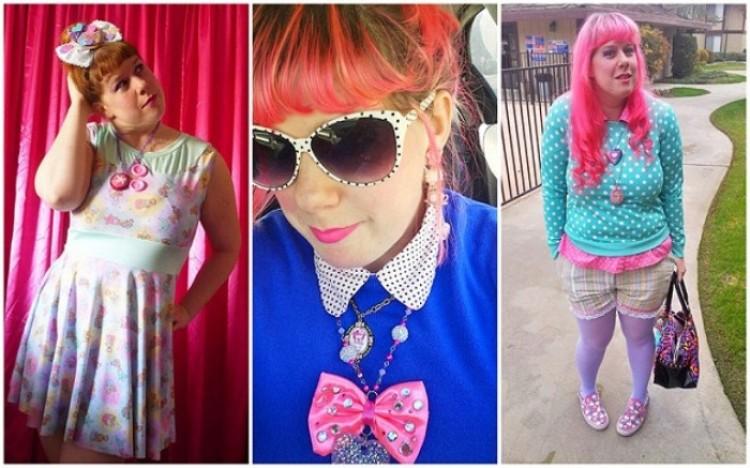 Miss Alfabet na swoim blogu sprzedaje różowe i bardzo niekonwencjonalne ubrania, które sama szyje.