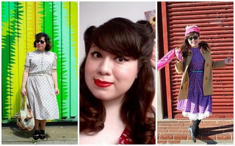 Cristina Uriegas Reyes z Brooklyn przypomina nam o pięknej modzie przeszłych dekad.