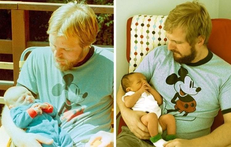 Ojciec i syn ze swoimi dziećmi