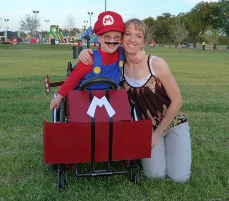 W wieku 5 lat Caleb był Mario.