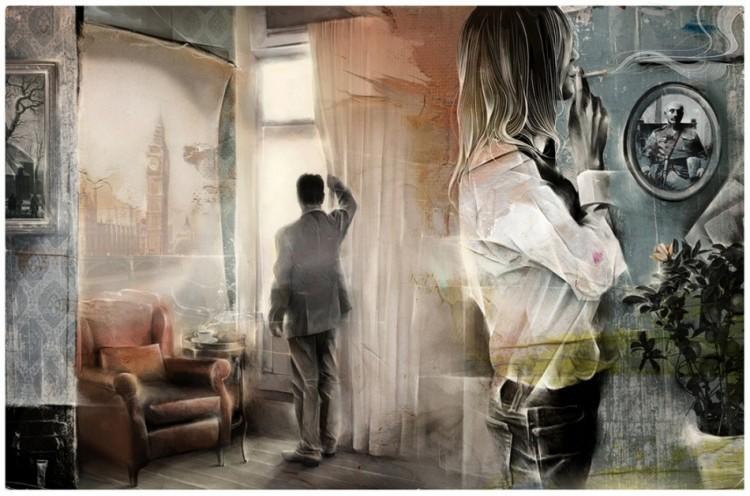 Emocjonalna grafika Leshy Kurbatova.