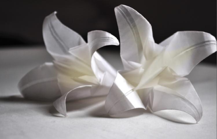 Wymagająca cierpliwości sztuka origami.