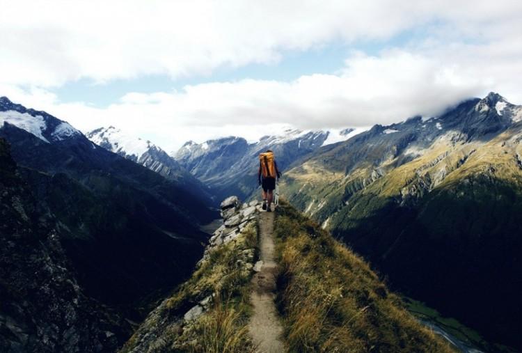 Piesza wycieczka przez Nową Zelandię.