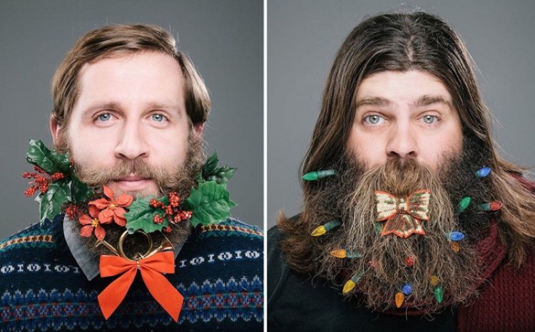 Świątecznie ozdobione brody. Projektu fotograficzny.